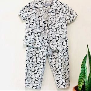 Vintage Denim floral set